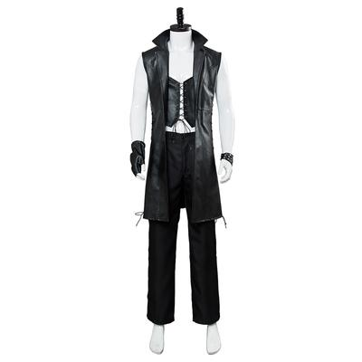 Devil May Cry 5 new character V sleeveless leather jacket game cosplay costume male Halloween trench coat