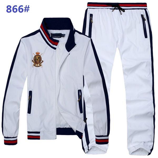 Autumn men's full zip tracksuit men sport suit white cheap men sweatshirt and pant suit hoodie and pant set sweatsuit men2019 Hot Sell Men's