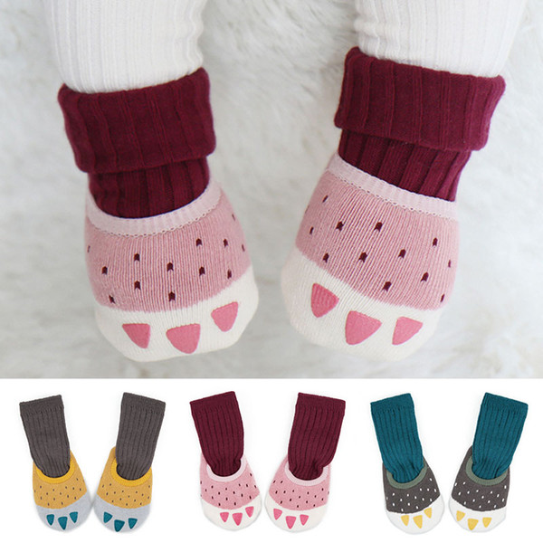 Winer Warm Baby Socken Set Verdicken Tierkrallen Neugeborenen Socke Cartoon Tier Kinder Jungen Mädchen Anti-Rutsch-Boot Baumwollsocken