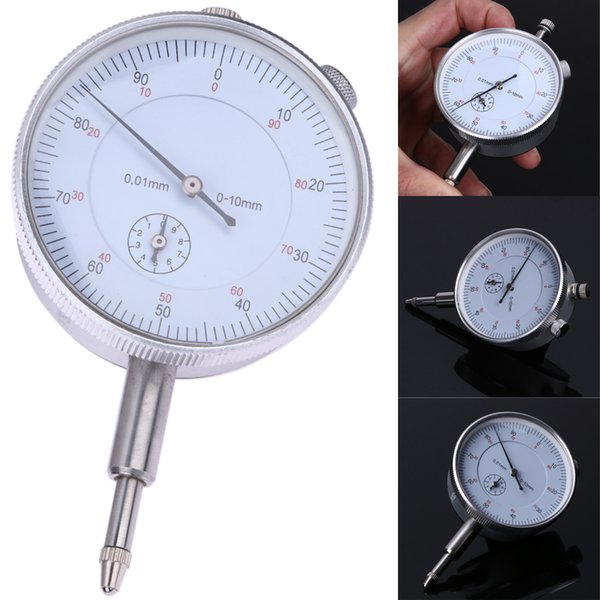 best selling Precision 0.01mm Dial Indicator Gauge 0-10mm Meter Precise 0.01mm Resolution Indicator Gauge mesure instrument Tool dial gauge