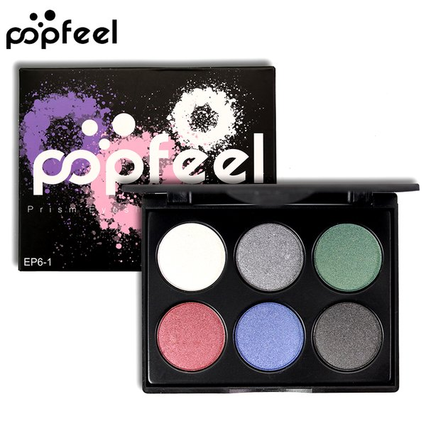 6 Color Shimmer Matte Eyeshadow Palette Waterproof Long Lasting Warm Pink Purple Green Natural Fashion Best Price Eye Shadow Powder Tray