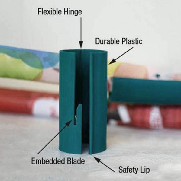 Wrapping Paper cortador Sliding Natal Cortadores de rolo de papel etiqueta Corta envoltório de papel Ferramentas de Corte em 2 segundos rápido e fácil DSL-YW1842