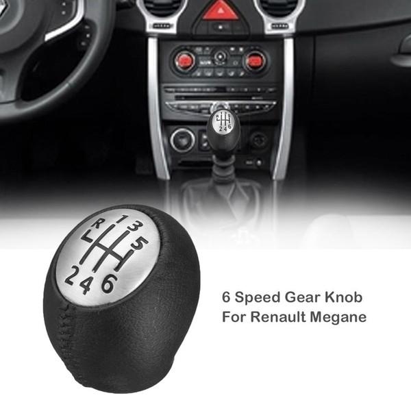 6-Gang Schaltknauf Für Megane Clio Laguna Vauxhall Art und Weise PU-Leder-Auto-6-Gang Schaltknauf Drop Shipping