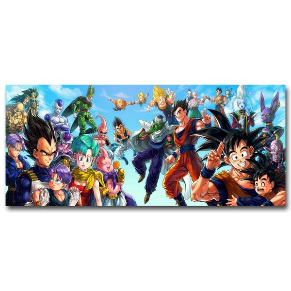 Z All Characters Art Silk Poster Huge Print 12x28 24x55inch New Japanese Anime Wall Pictures for Home Wall Decor 004
