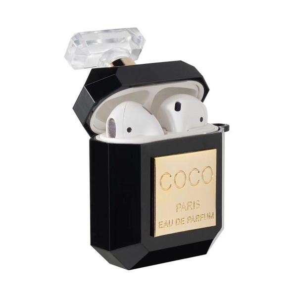 Pour Apple Marque Design Bouteille De Parfum Forme Transparent Airpods Cases Mode Écouteur Cas Protecteur 03