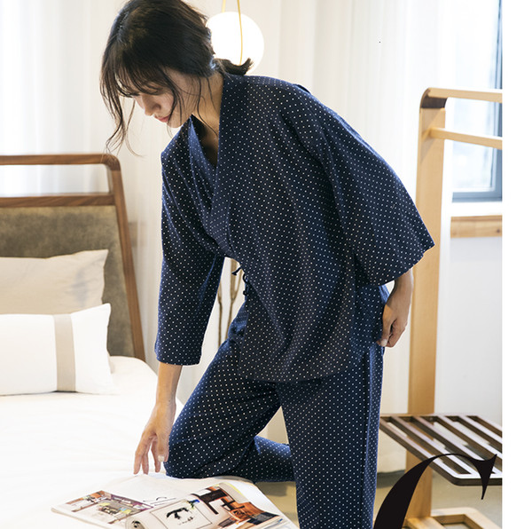Casual constellation Couples pyjamas Robes women kimono sets 100% gauze cotton breathable Japanese kimono pajamas sets women SH190916