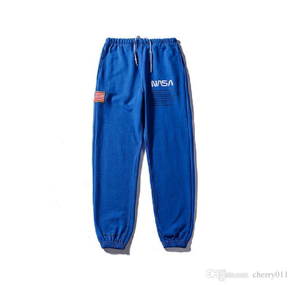 19SS Heron Preston x NASA Pantalones deportivos conjuntos para hombres y mujeres Amantes Estudiantes Ocio Pantalones de moda al por mayor