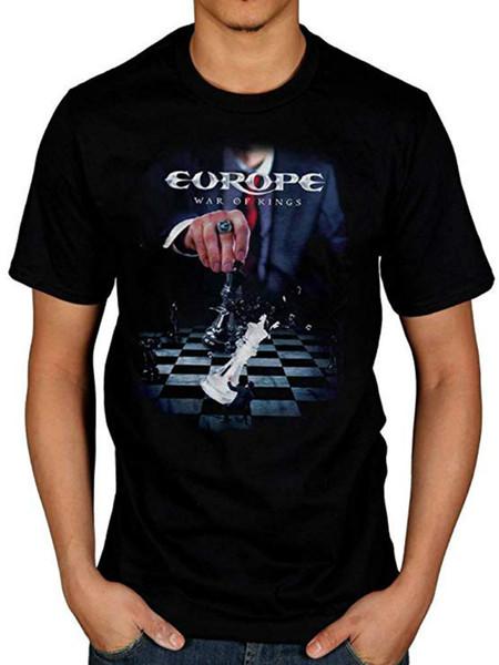 T-shirt estiva da uomo con logo di War of Kings in Europa T-shirt casual da uomo con scollo a V manica corta casual Top divertenti T-shirt