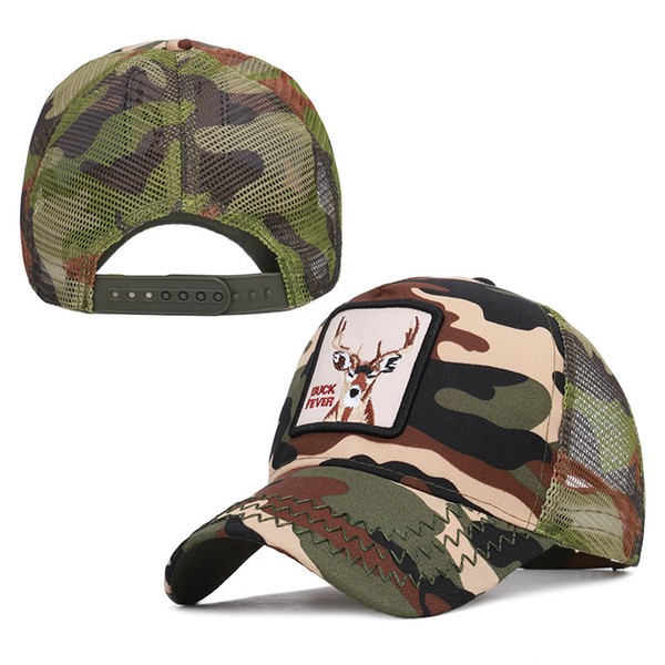 Hot Fashion Camouflage Baseball Hats Summer Mesh Caps Quality Embroidered Cock Animals Hat Men Women Adjustable Ball Cap Lover Gift