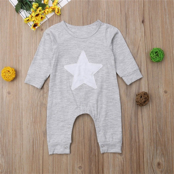 Canada American Flag Printed Toddler Baby Girls Long Sleeve Jumpsuits Playsuit Outfits