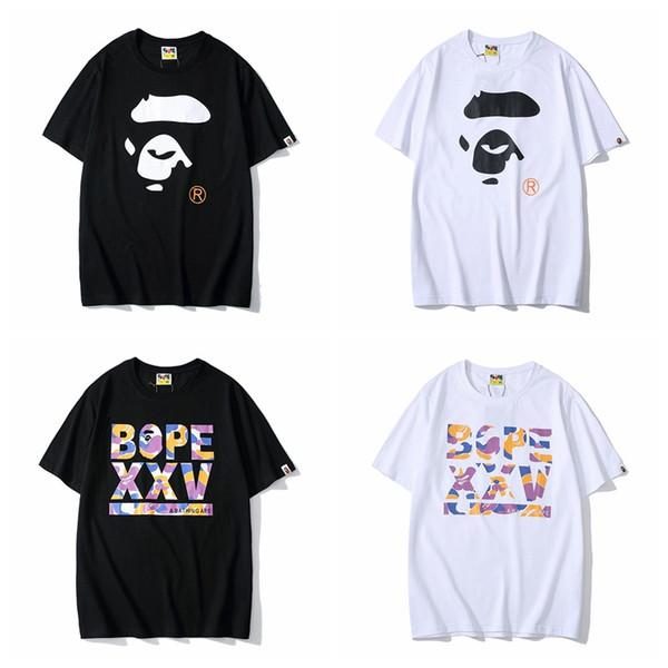 Yaz gelgit erkek rahat kişilik baskılı pamuk T-shirt gençlik gevşek yuvarlak boyun kısa kollu erkek tasarımcı t shirt t shirt giysi