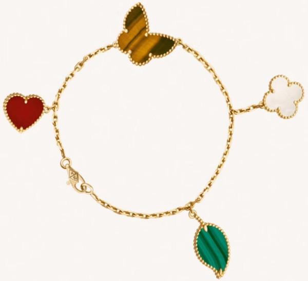 2019 neue design mode diamant armband hochwertige überzogene vier blume armband armband temperament damen party urlaub geschenk schmuck