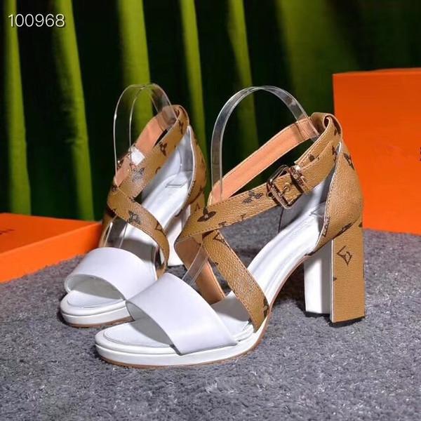 Nouveau designer de luxe de mode sandales à talons pour femmes créer matériel de couture confortable avant-garde robe chaussures fête