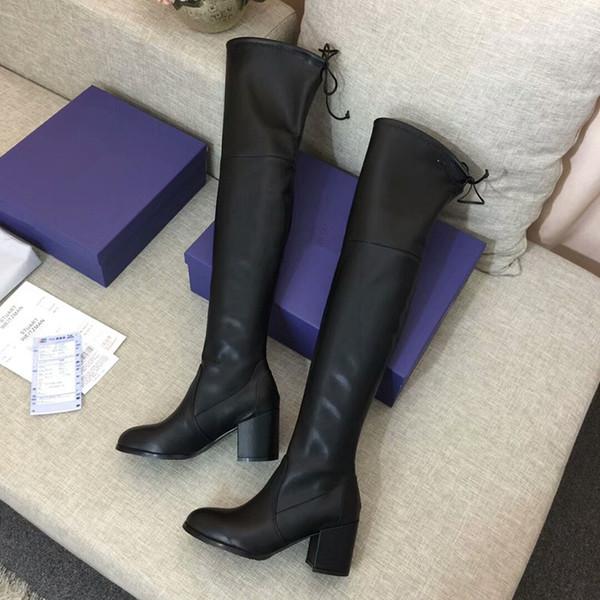 Kar Kış Çizme Klasik Avustralya Kadınlar Bailey ilmek Uzun Tasarımcı Bayanlar Kız Patik Knee Uyluk Yüksek Önyükleme xf19082019 Üzeri
