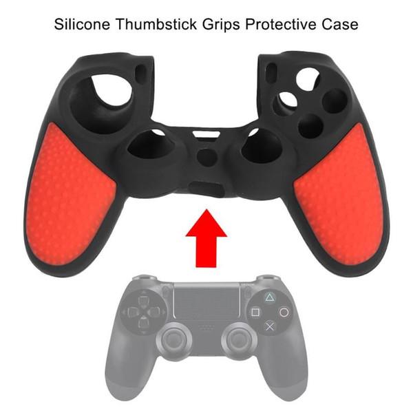 Silikon Koruyucu Cilt Kılıfı PS4 Pro Slim Controller için Thumbstick Sapları Iyi Skid Direnci ve Şeffaflık