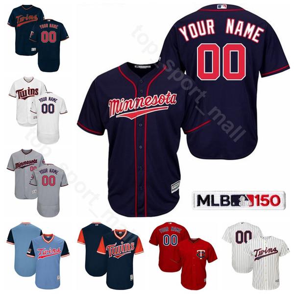 Minnesota Baseball Twins 9 Marwin Gonzalez Trikot 17 Jose Berrios 64 Willians Astudillo 22 Miguel Sano 7 Joe Mauer Nelson Cruz Benutzerdefinierter Name