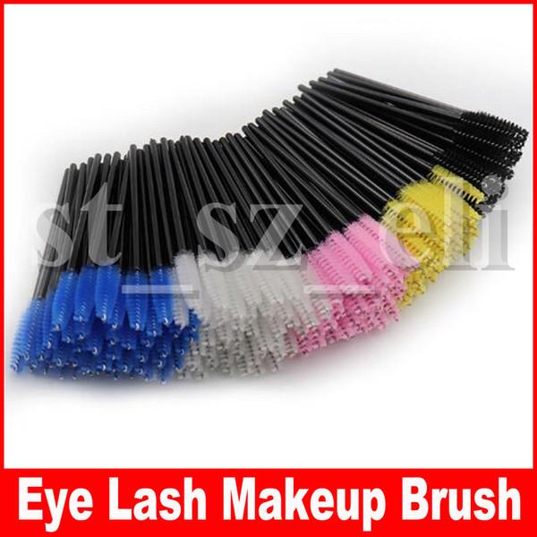 50 adet / paket Kirpik Göz Kirpik Makyaj Fırça Mini Maskara Değneklerini Aplikatör Tek Kullanımlık Uzatma Aracı 51 Renkler
