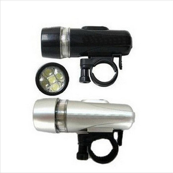 5LED Outdoor Cycling Front Light Waterproof Flashlight Riding Torch Bike Head Lamp + Bracket Warning headlight LJJZ64