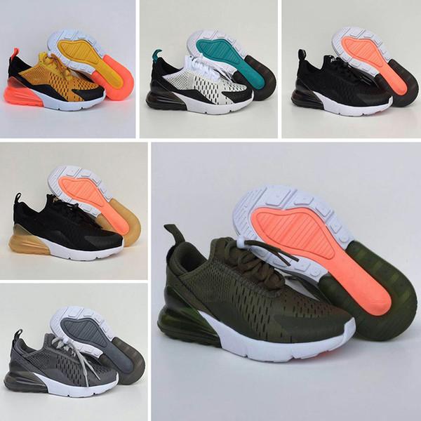 Nike air max 270 2019 высокое качество малышей дети кроссовки статические GID chaussure de sport для младенцев мальчиков девочек повседневная обувь