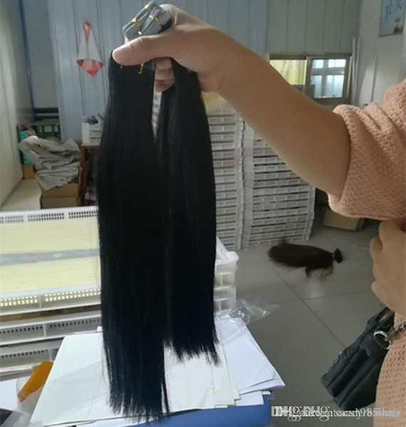 Thick Bottom 200g 80pcs Remy Glue Skin Weft Tape In 100% Peruvian Human Hair Extensions Wholesale Cheap Nice Natural Straight
