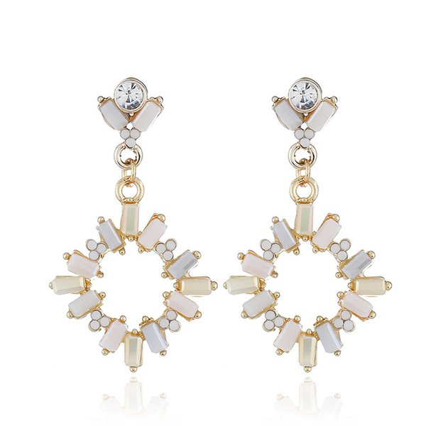 Personality Fashion Hollow Out Full Drill Earrings Minimalism Popular Pendant Earrings Wish Ornaments