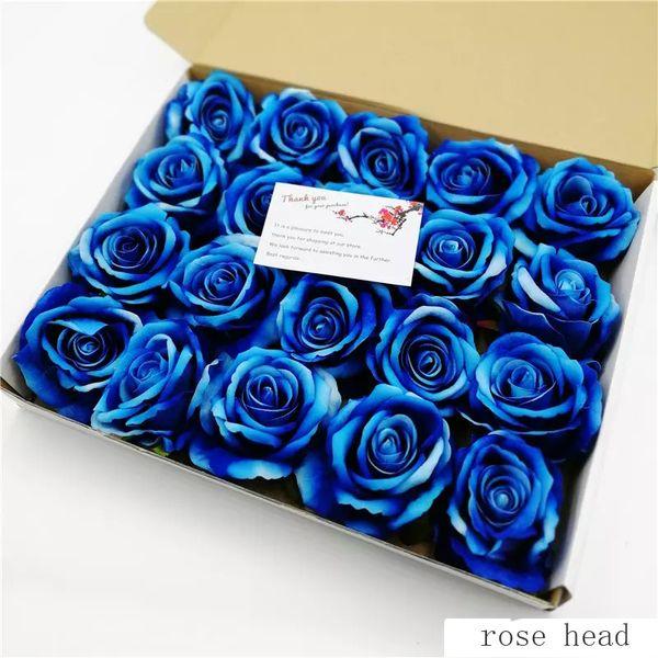 30pcs / Lot Mini Fleurs Artificielles Têtes De Roses Pour La Décoration De Mariage Faux Scrapbooking Floral Guirlande Accessoires À La Maison