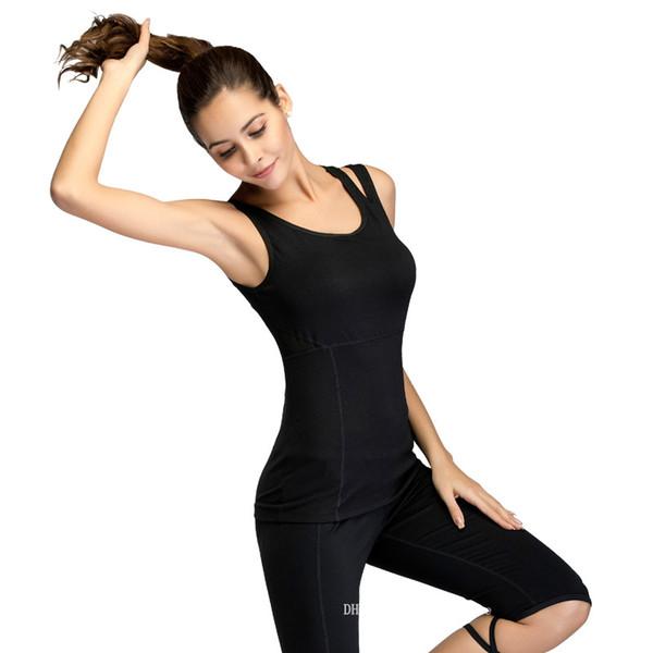 2019 Frauen-Sportweste für den Sommer Koreanische Version des dünnen und schnell trocknenden Übungsanzuges für den Outdoor-Trainingsanzug