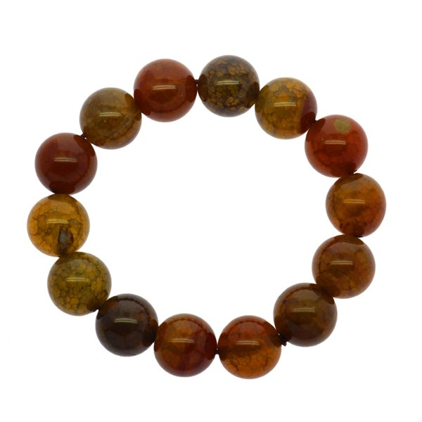Fashionable and creative natural agate jewelry 14mm dragon pattern agate beads bracelet