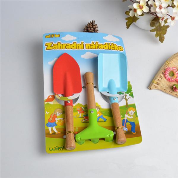 Kids Gardening Tool Kits 3pcs Set Colorful Trowel Shovel Rake Mini Gardening Tool Kits for Children Kids Gift High Quality