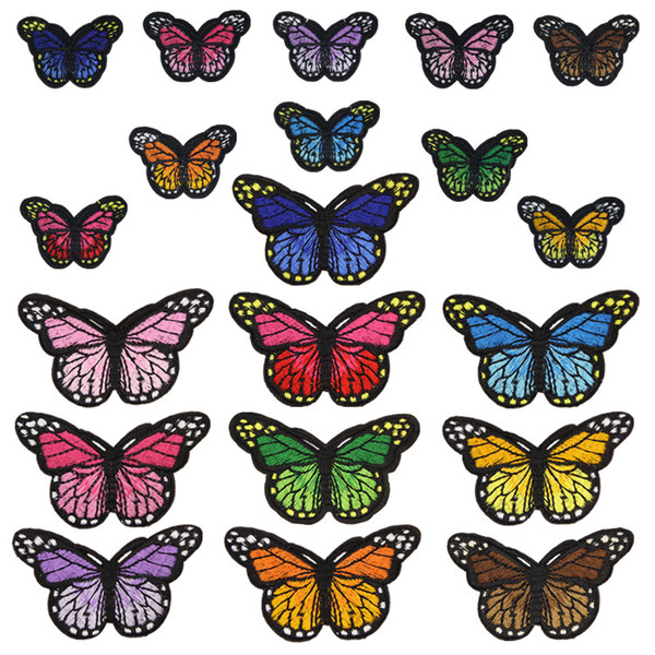best selling 20 Styles Butterfly Badges Clothe Embroidery Patch Applique Ironing Clothing Sewing Supplies Decorative Patches For Clothing