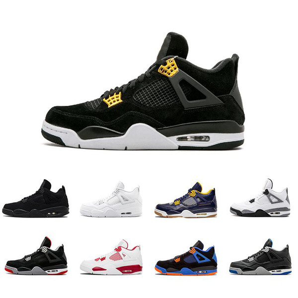 New 4 4s men Basketball Shoes Royalty Pure Money White Cement Bred Alternate Motorsport Military Blue Fire Red Oreo Premium black Sneaker