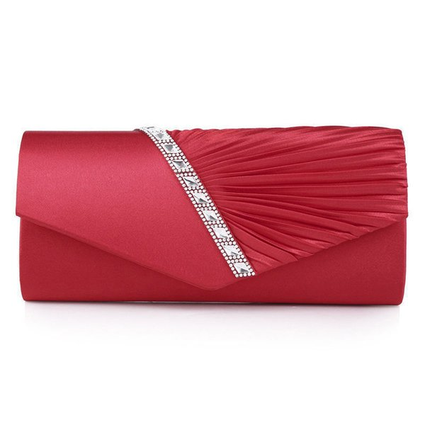 2019 New Diamond Silk Elegant Evening Bag Lady Three-dimensional Flower Satin Bridal Wedding Purse Party Messenger Clutch Blosas