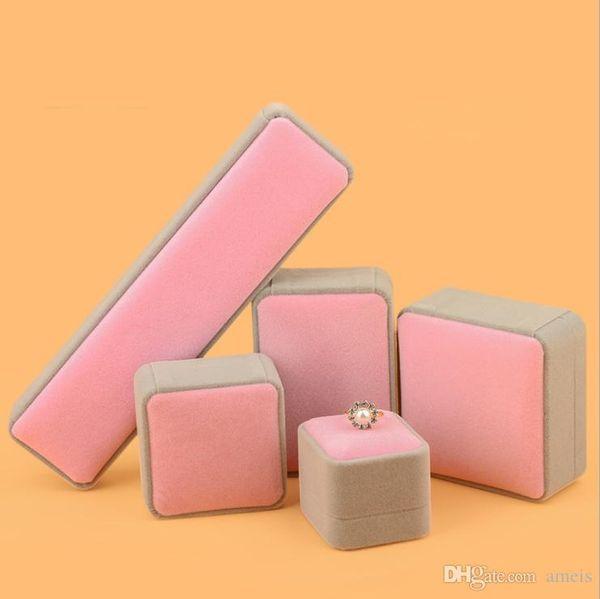 Design de moda Caixa de Anel Rosa Para Pingente Pulseira Colar CasoCasamento de Casamento para o Presente Esposa Namorada El anillo de Navio Livre da gota
