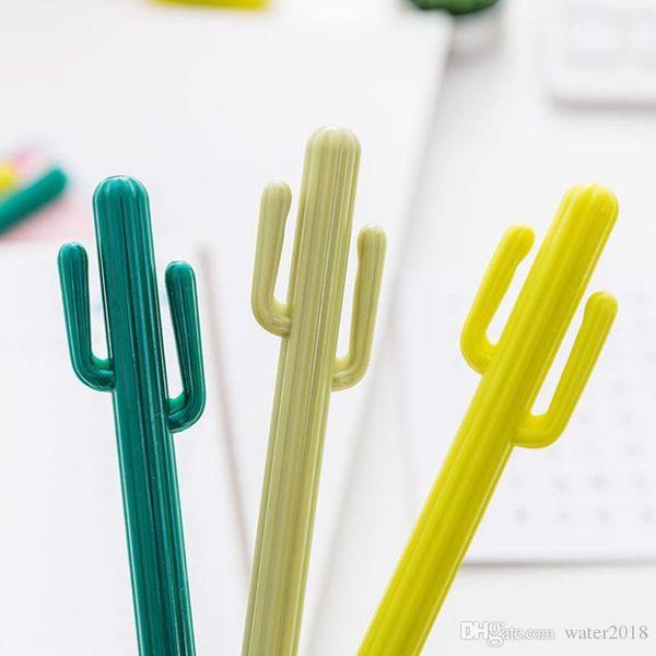 Creative Small Fresh Desert Cactus Styling Pen South Korea Stationery Cartoon Cute Gel Pen Student Prize Free Shipping