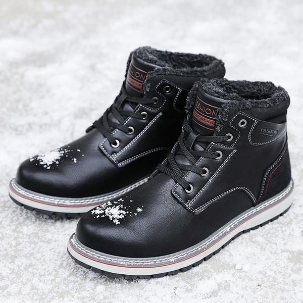 2019 популярные мужские удобные нескользящие обувь для ходьбы мода спортивная обувь мужская открытый плюшевые теплые хлопковые походы