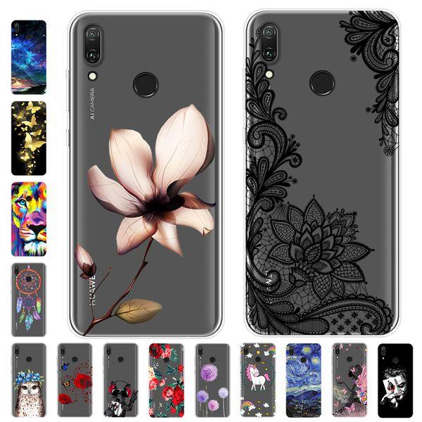 Cartoon Huawei Y6 2019 Case Soft Silicone Back Cover Phone Case For Huawei Y6 Prime Pro 2019 Y 6 2019 Mrd-lx1 Mrd-lx1f