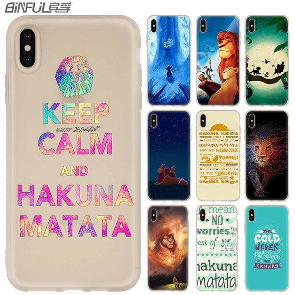 Phone Cases Silicone soft Cover for iPhone XI R 2019 X XS Max XR 6 6S 7 8 Plus 5 4S SE Cartoon lion king