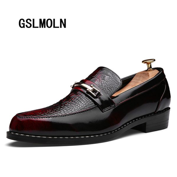 Men Dress Leather Shoes for Mens Wedding Formal Shoes Design Italian Classic Derby Shoe Male Shiny Style Zapatos Para Hombre New