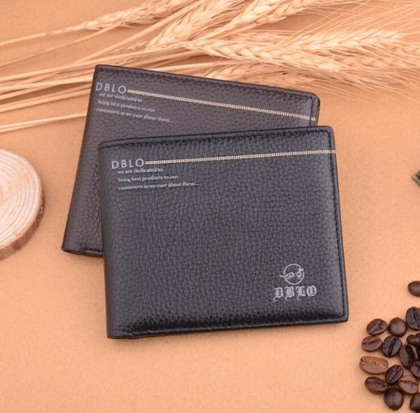 Portefeuille en cuir de vachette en cuir véritable de la mode 2019 portefeuille 4 fois court sac à main avec portefeuilles à monnaie pour hommes pour la livraison gratuite