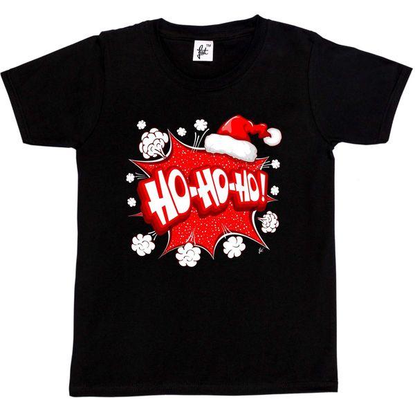 HO HO HO Explosion de Noël Comic Burst Santa Hat Enfants T-shirt Garçons / Filles taille discout chaud nouveau tshirt harajuku été 2018
