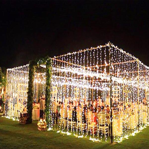 3 x 3m led ghiacciolo led tenda fata fata luce fata luce 300 led luce di natale per la cerimonia nuziale casa decorazione del partito del giardino