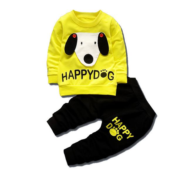 2019 Spring Autumn Children Boys Girls Cartoon Suits Baby T-shirt Pants 2Pcs/Sets Kids Fashion Dog Clothes Toddler Tracksuits