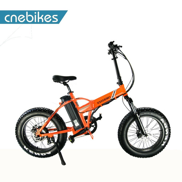 "top popular Sr20b Cnebikes Oem Factory Supply 4.0 Fat Tire Electric Bike Folding Bicycle 20"" qicycle electric bike cheap 2020"