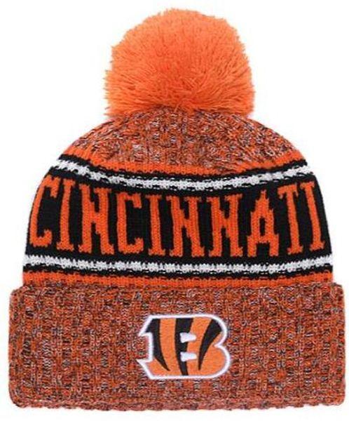 NOVITÀ Striped Sideline Design Cincinnati Sport Cuffed Knit Hat Wool Bonnet Warm Cheap Beanie Knitted Skull Caps per uomo Donna, snapback hat 00