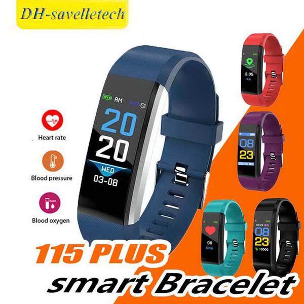 ID115 плюс смарт-браслет Фитнес-трекер сердечного ритма спортивные часы реальное кровяное давление смарт-группа PK DZ09 Y7 ID116 PLUS с коробкой