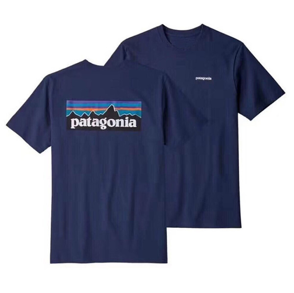 T-Shirt estiva BATAGONIA Uomo Hip Hop Streetwear T-Shirt manica corta nera grigia di design