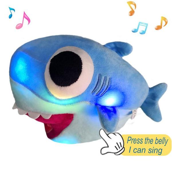Bambola di peluche ufficiale di animali di squalo di squalo di 25cm grande del bambino del giocattolo della peluche per il regalo dei bambini