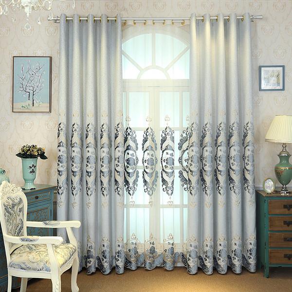 Compre Cortinas De Sombra De Bordado Moderno Simple Para Sala De Estar  Comedor Dormitorio. A $29.68 Del Huojuhua | DHgate.Com