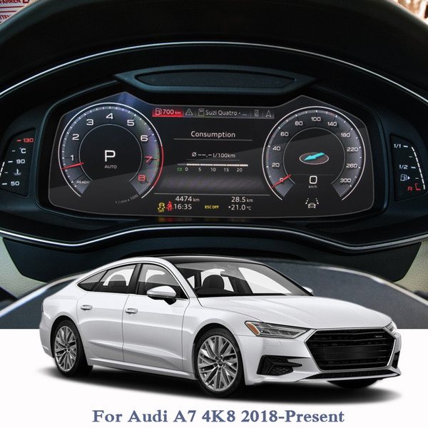 Car Styling GPS Navigation Screen Film For Audi A7 4K8 2018-2020 Dashboard Glass Display Screen Film Climate Control Accessory