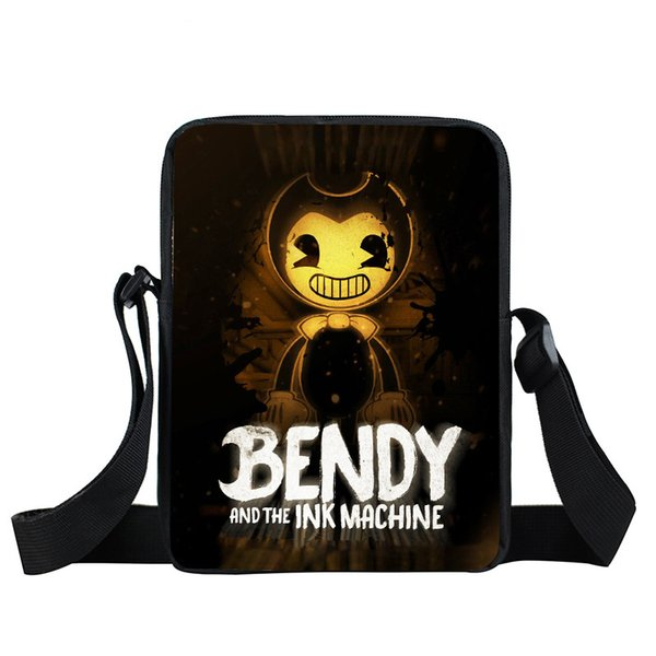 Bendy and The Ink Machine Messenger Bag Men Women Casual Travel Portable Cross Bags Kids Toddlers Satchel Snacks Toys Bags